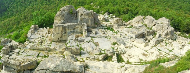 perperikon - temple of of dionysius in the rhodope mountains