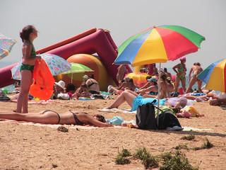 beach sunburnt