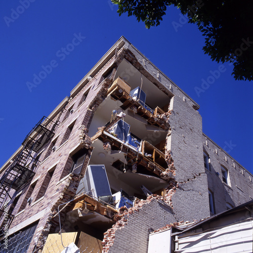 apartment building after earthquake