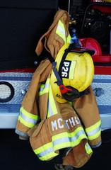 fireman's helmet and jacket