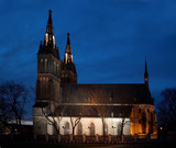 church of st peter and paul at night poster
