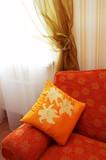 orange pillow poster