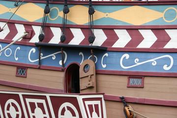 pattern on a ship