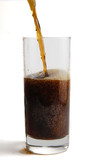 glass with soda poster