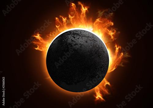 Fototapeta detailed total eclipse