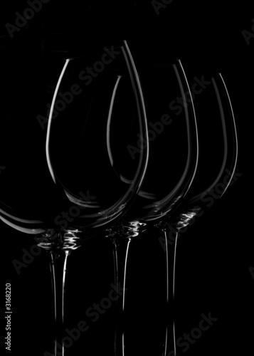 wine glasses on black - 3168220