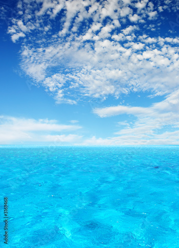 canvas print picture tropical lagoon