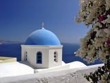 santorini church,cyclades, greece poster