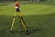 Leinwandbild Motiv land surveying the golf course