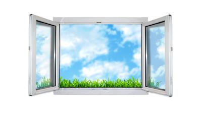 fenêtre sur ciel