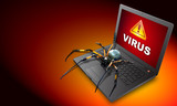 ordinateur portable virus poster