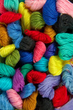 colorful embroidery yarns poster