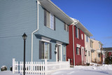 colorful attached homes poster
