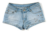 blue female jeans shorts poster