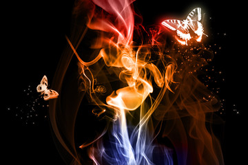 butterfly and fires