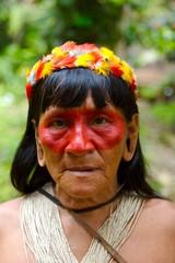 old indian woman portrait