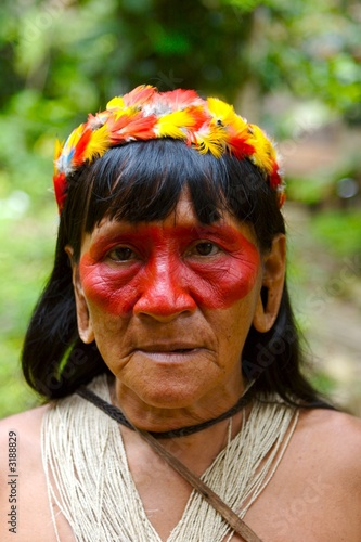 old indian woman portrait