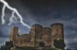 castello nel temporale