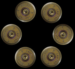 shotgun bullets - war concept
