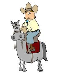 cowboy riding high