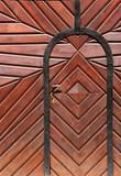 budapest old door poster