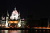 budapest parliament landmark poster