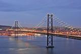 lisbon bridge by twilight poster