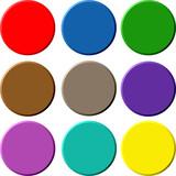circular buttons poster