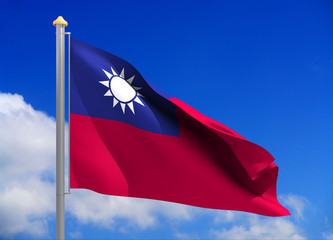 taiwan flag (include clipping path)