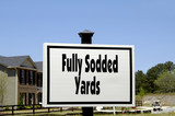 fully sodded yards poster