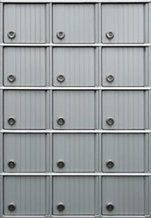 rows of mailboxes