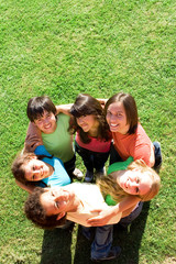 togetherness,friendship,  smiling teenagers