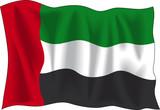 flag of united arab emirates poster