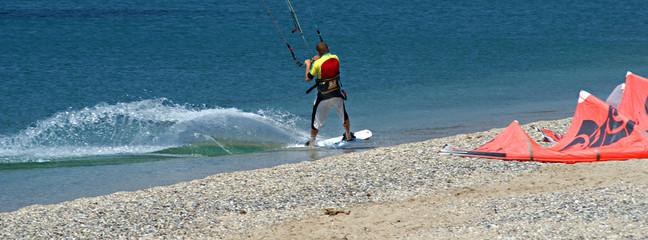 surf sur le sable