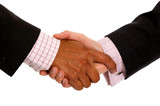 business handshake deal - diversity poster