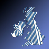 uk and ireland map outline poster