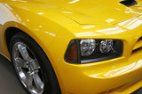 yellow muscle car poster