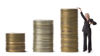 businesswoman and money