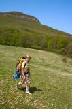 hiker girl poster