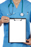 anonymous doctor whit notepad poster