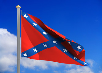 confederate flag (include clipping path)
