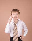 young businessman finding the idea poster