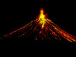 night volcano eruption - 3239825