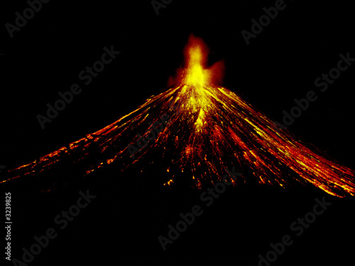 night volcano eruption