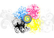 cmyk spiral background
