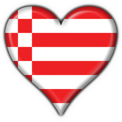 bottone cuore brema - bremen button heart flag