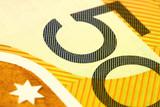 aussie $50 note macro poster
