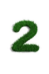 chiffre 2 pelouse