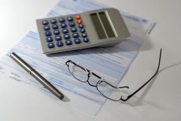 feuille impôt