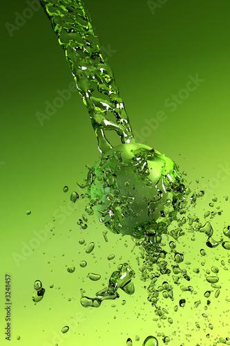 Leinwanddruck Bild water splashes